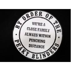 "Peaky Blinders ""Family"" Cast Iron"