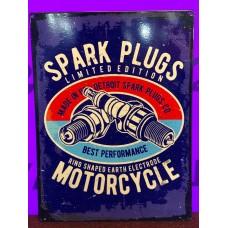 Spark Plugs Tin Sign