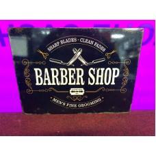 Barber Shop Tin Sign