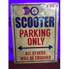 Scooter Parking Tin Sign