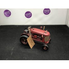 Red Tractor Metal Toy