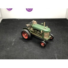 Green Tractor Metal Toy