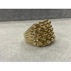 9ct Gold 5 Row Keepers Ring Sz Z