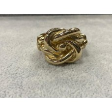 9ct Gold Lovers Knot Ring Sz Z 1/2
