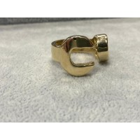 9ct Gold Spanner Ring Sz W