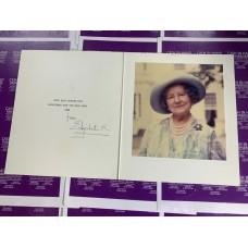 Queen Elizabeth R Queen Mother Christmas Card