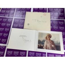 Queen Elizabeth R Queen Mother Royal Christmas Card