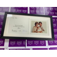 Princess Diana and Prince Charles Framed Royal Christmas Card