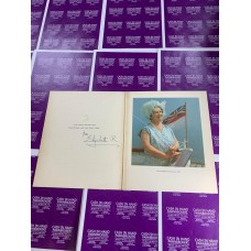Queen Mother in Blue Royal Christmas Card