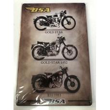 BSA Collection Small Tin Sign
