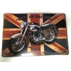 BSA Best of British Small Tin Sign