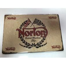 Norton Small Tin Sign